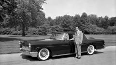 William Clay Ford with 1956 Lincoln Continental Mark II